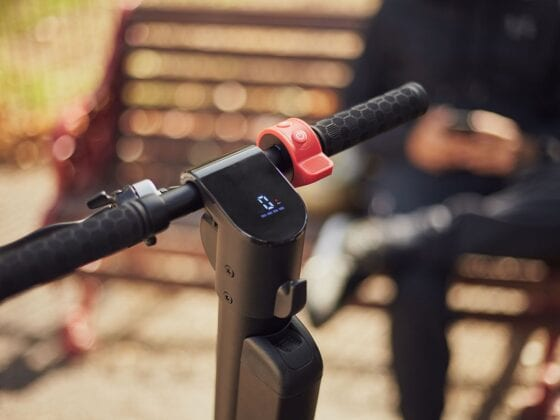 screen on Flow Electric Scooters