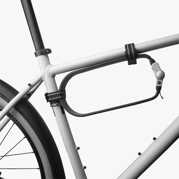 Litelok from Flow scooter on white bike