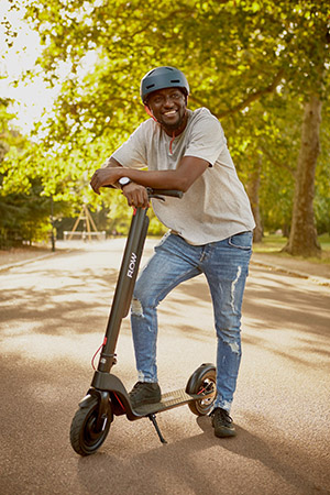 Man on Flow Scooter in a park